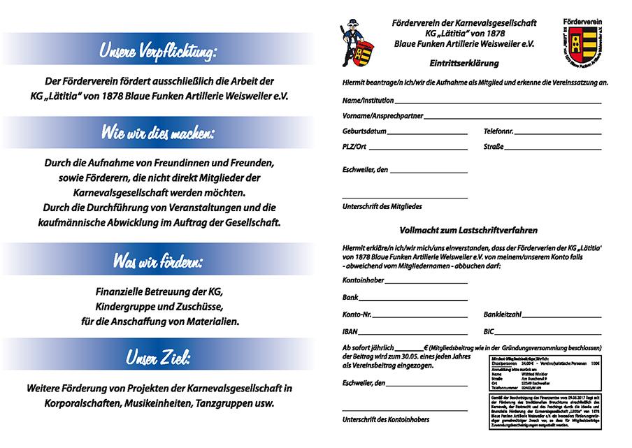 Downloadlink Aufnahmeantrag Förderverein